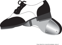 Dance Shoes Clipart Black And White