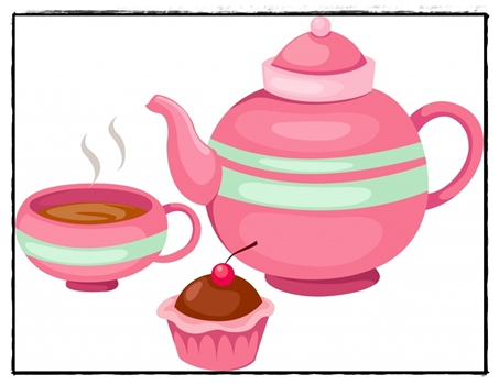 Clipart Tea Party Invitation