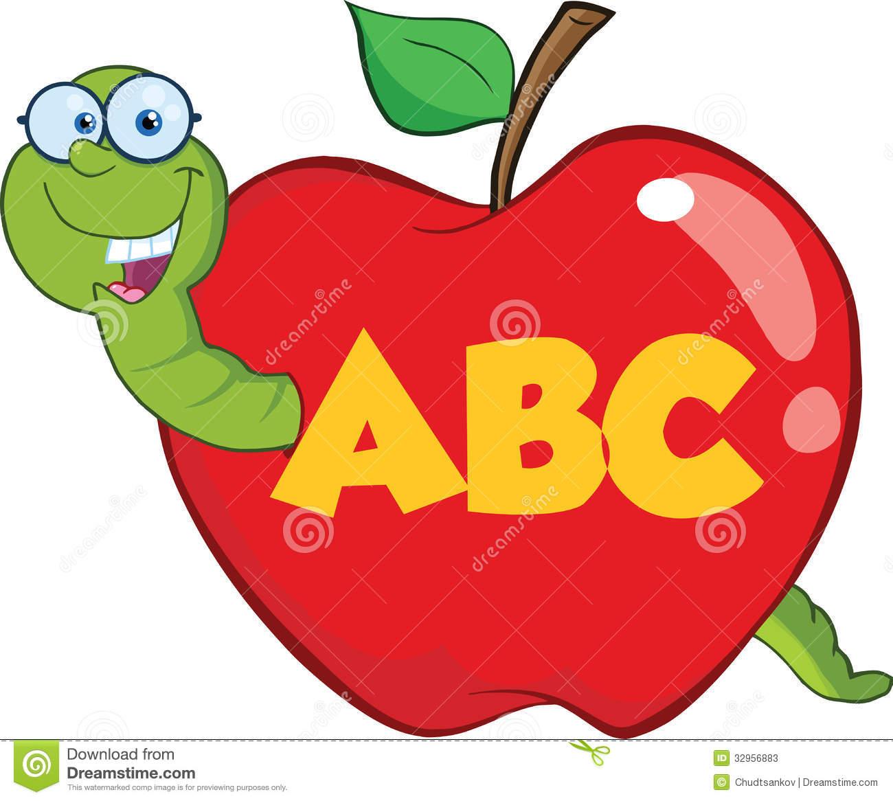 Apple Worm Teacher Teacher Apple Worm Happy Red