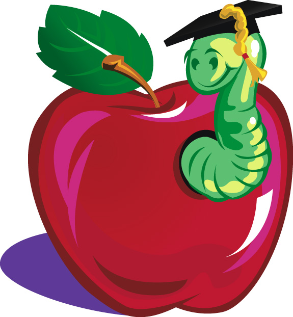 Teacher Apple Worm | Clipart Panda - Free Clipart Images