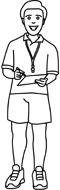 Teacher Clip Art Black And White | Clipart Panda - Free ...