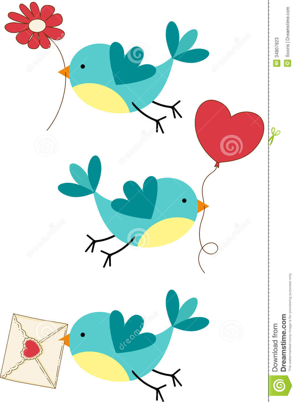 Cute cartoon love birds - photo#24