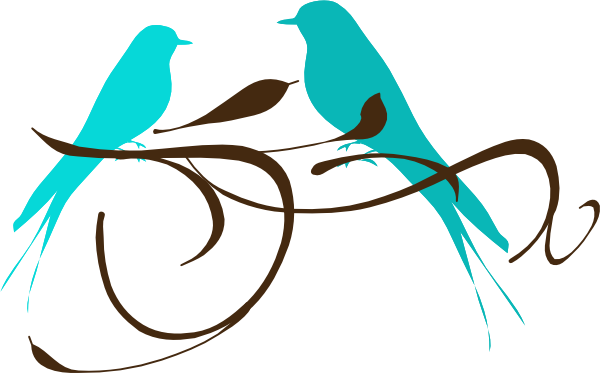 Teal Love Birds Clipart Clipart Panda Free Clipart Images