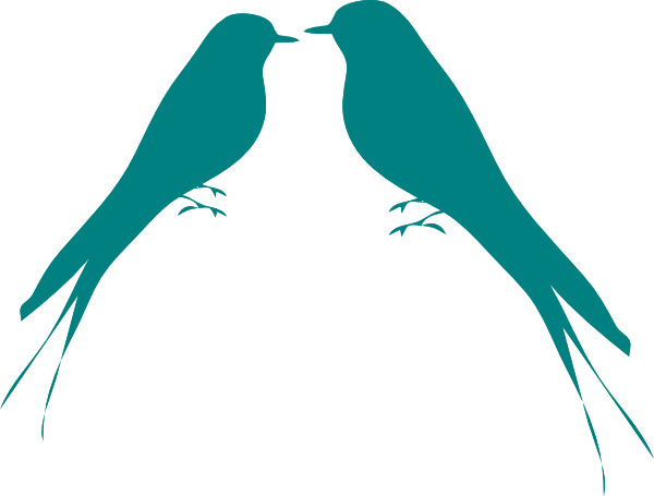 Teal Love Birds Clipart | Clipart Panda - Free Clipart Images