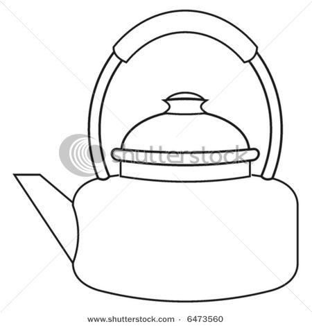 Teapot - Black Outline Clip Art at Clker.com - vector clip art online,  royalty free & public domain