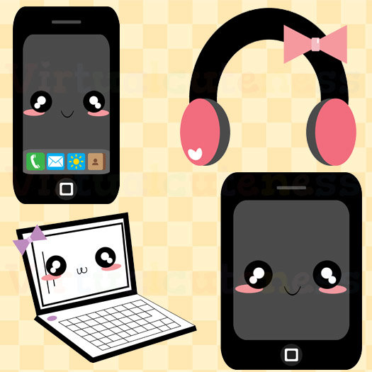 technology clipart clip cute phone clipartpanda laptop terms