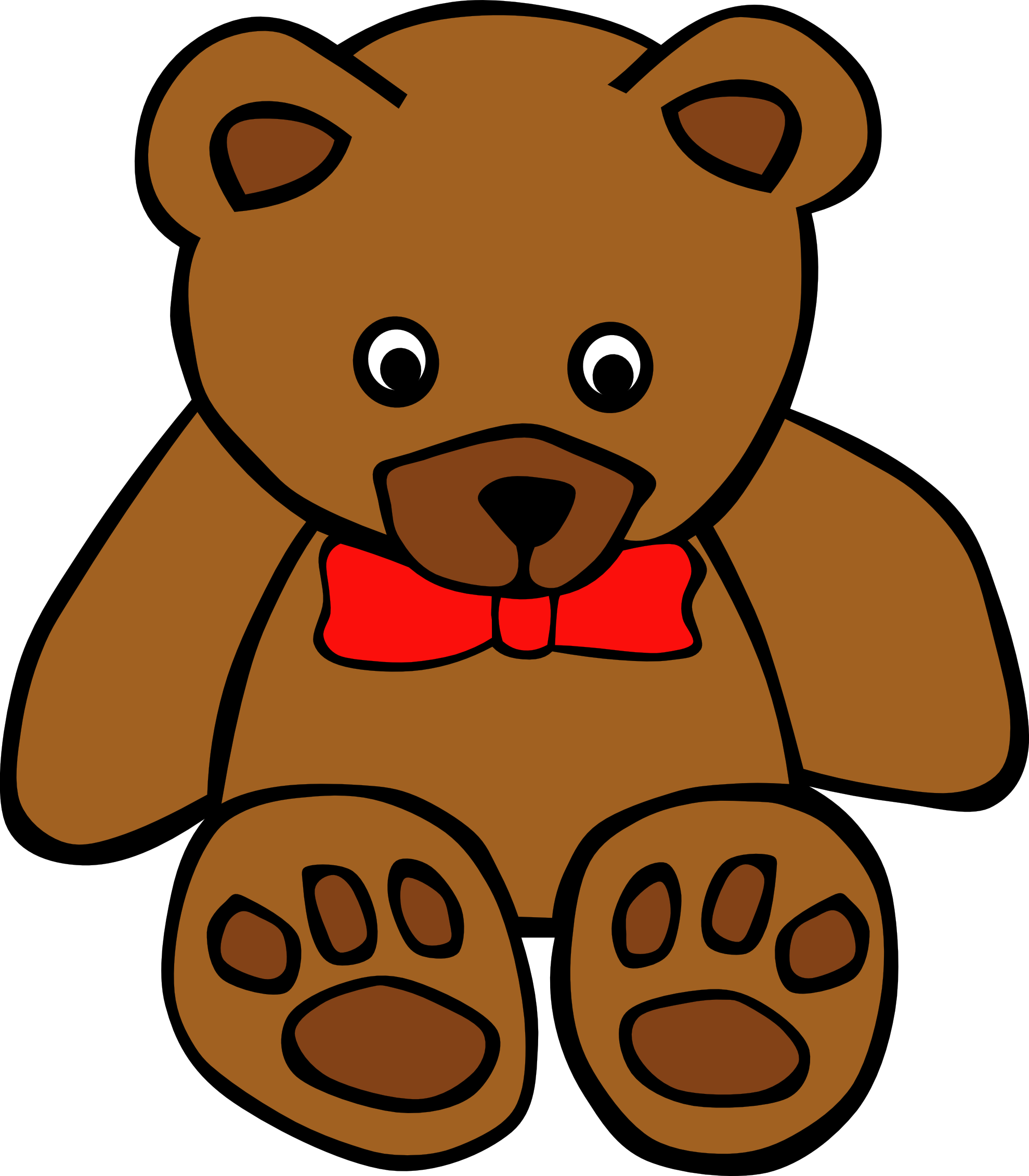 Teddy Bear Clip Art Black And White | Clipart Panda - Free ...