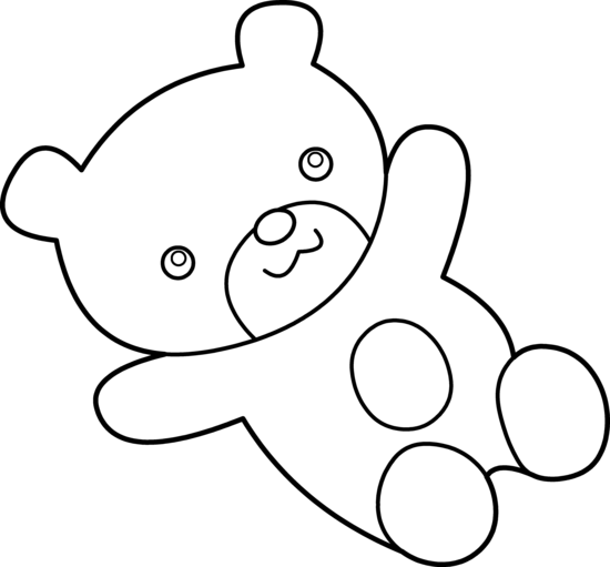 Line Drawing Teddy Bear : Cuddly teddy bear coloring clipart panda free