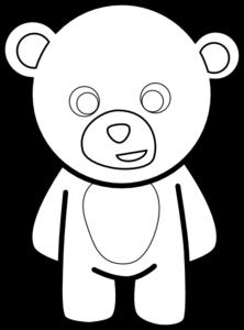 Teddy Bear Outline Clipart