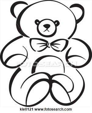 Teddy bear outline drawing free cliparts that you can download to you