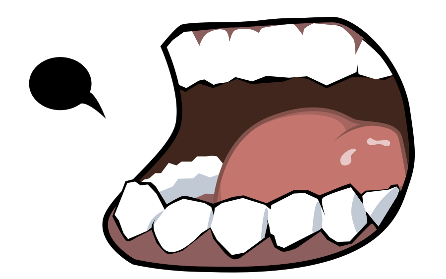 Angry mouth png
