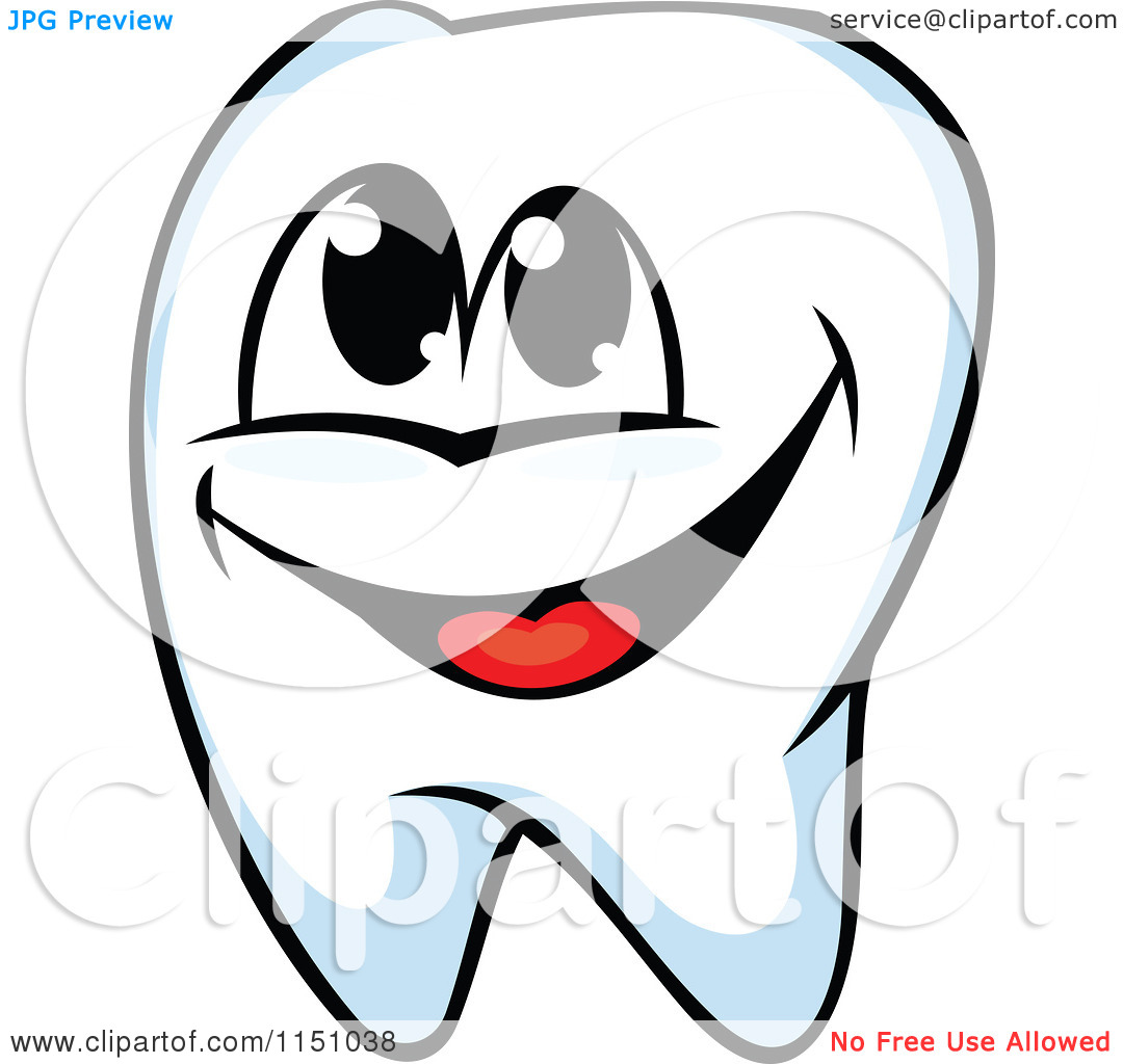 Tooth happy. Clipart of a panda