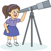 girl with telescope hits 612 clipart panda free clipart images