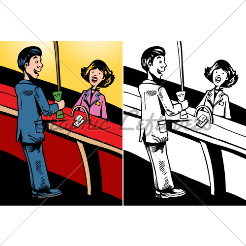 clipart bank teller - photo #21