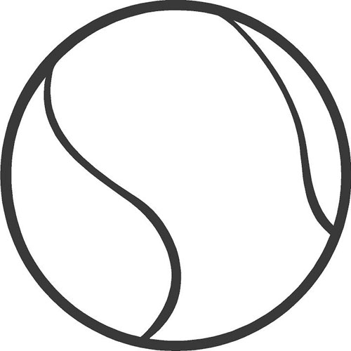 tennisbal kleurplaat kidkleurplaat nl