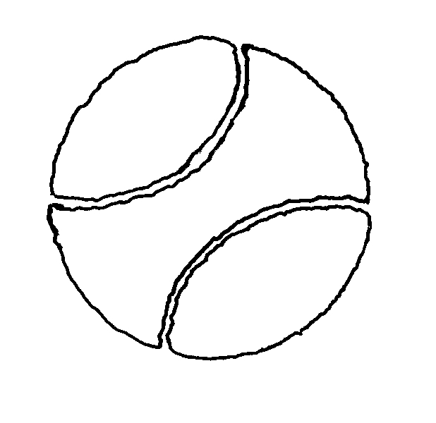 Free outline picture of a ball coloring pages