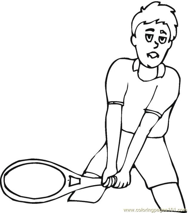 Tennis Racket Coloring Page | Clipart Panda - Free Clipart Images