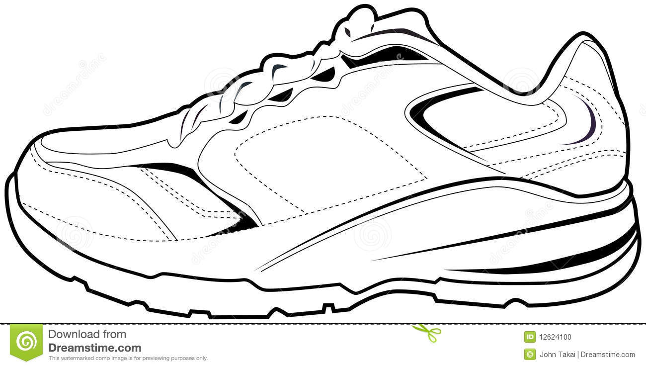 tennis shoes clipart black and white clipart panda free clipart rh clipartpanda com tennis shoe clip art free tennis shoe clipart