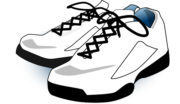 tennis shoes clipart black and white clipart panda
