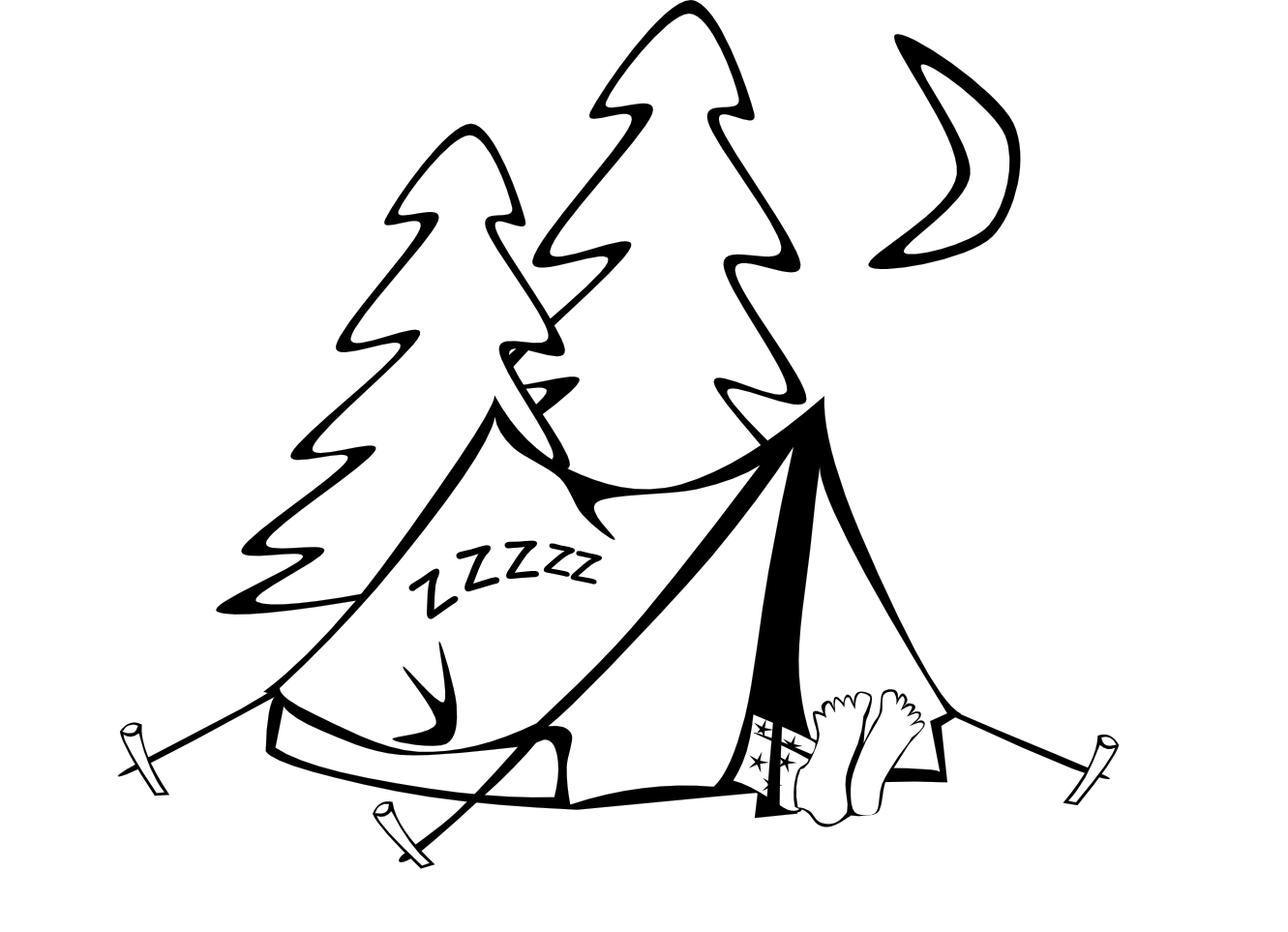 Tent And Campfire Clipart Clipart Panda Free Clipart