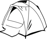 tent clipart black and white. tent clip art clipart black and white h