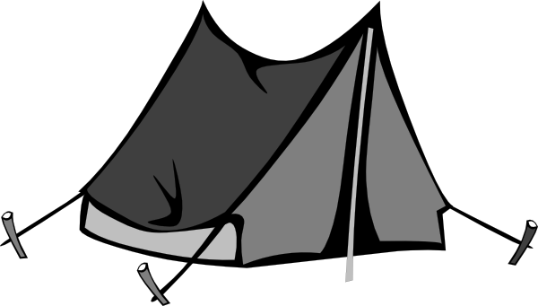 Tent Clip Art Black And White | Clipart Panda - Free Clipart Images