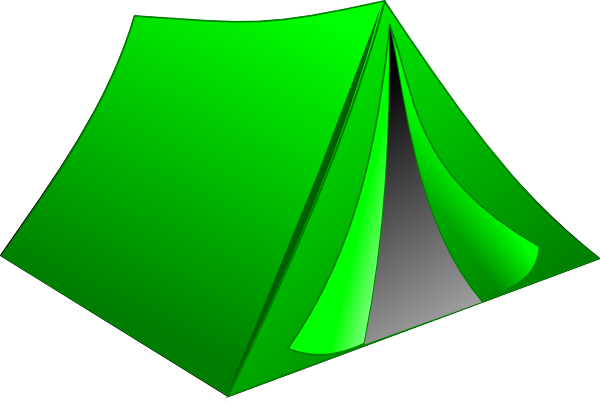 Camping Tent Clipart Black And - 45.0KB