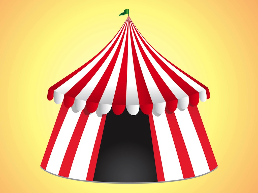 Circus Tent Clipart Black And White | Clipart Panda - Free ...