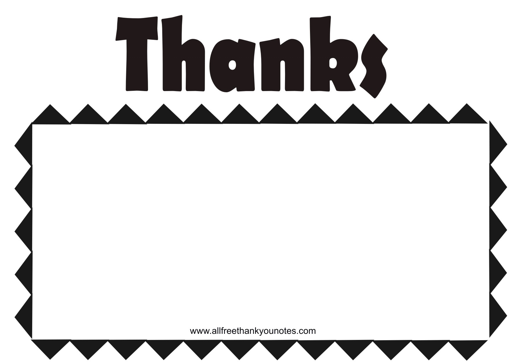 Word Thank You Note Card