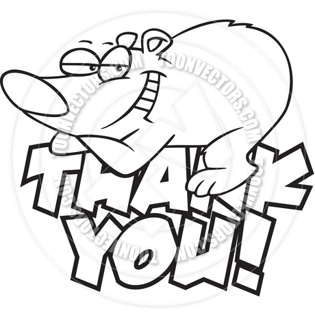 Thank you black. Cartoon bear clipart panda