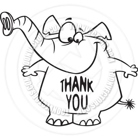Cartoon Thank You Elephant Clipart Panda