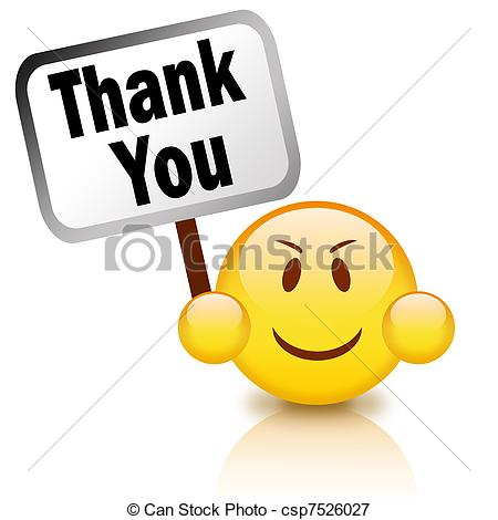 smiley face clip art thank you clipart