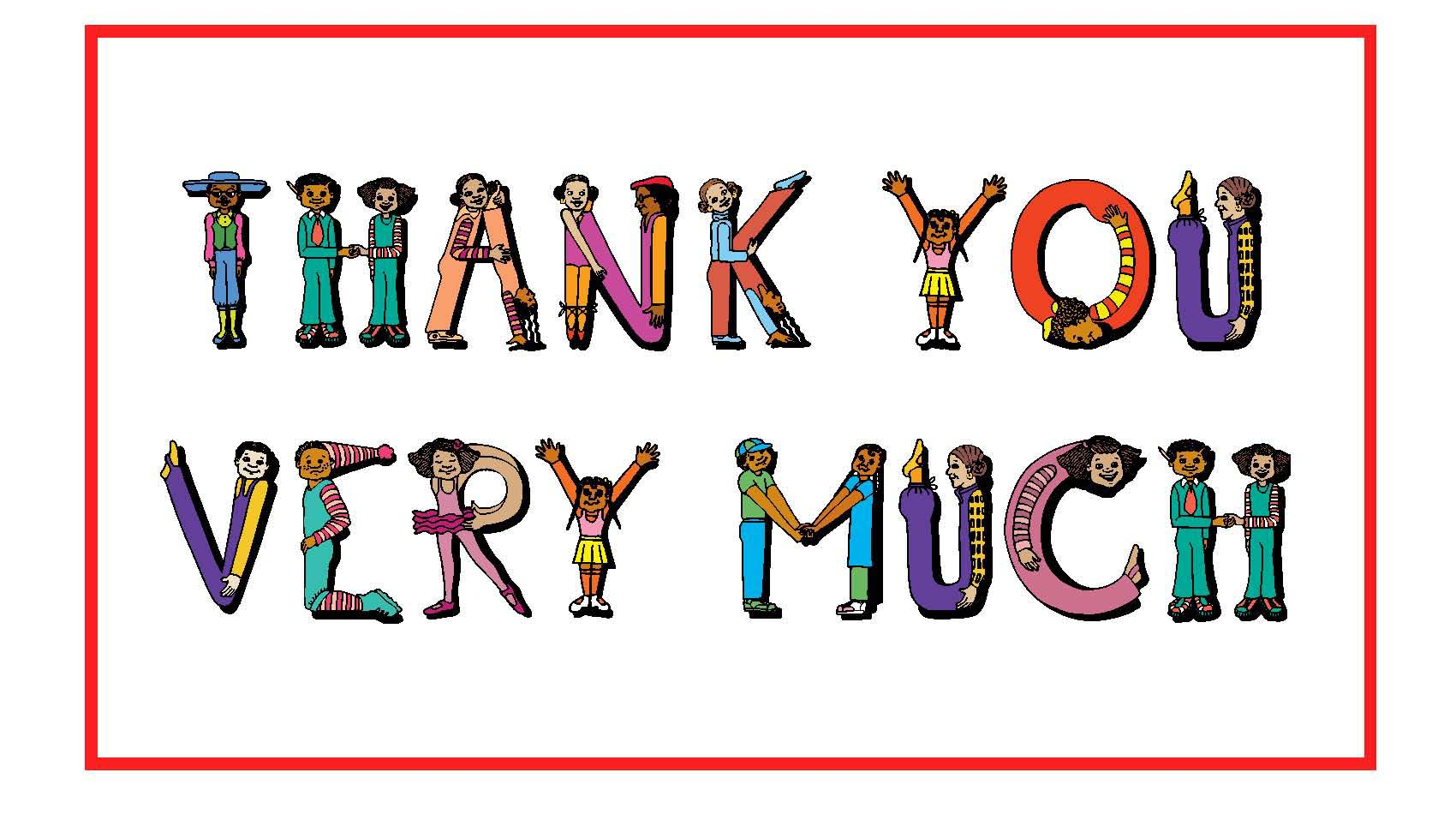 thank you very much clipart panda free clipart images rh clipartpanda com Thanks a Bunch Clip Art Special Thanks Clip Art