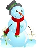 thaw : Sad snowman melting in | Clipart Panda - Free Clipart Images