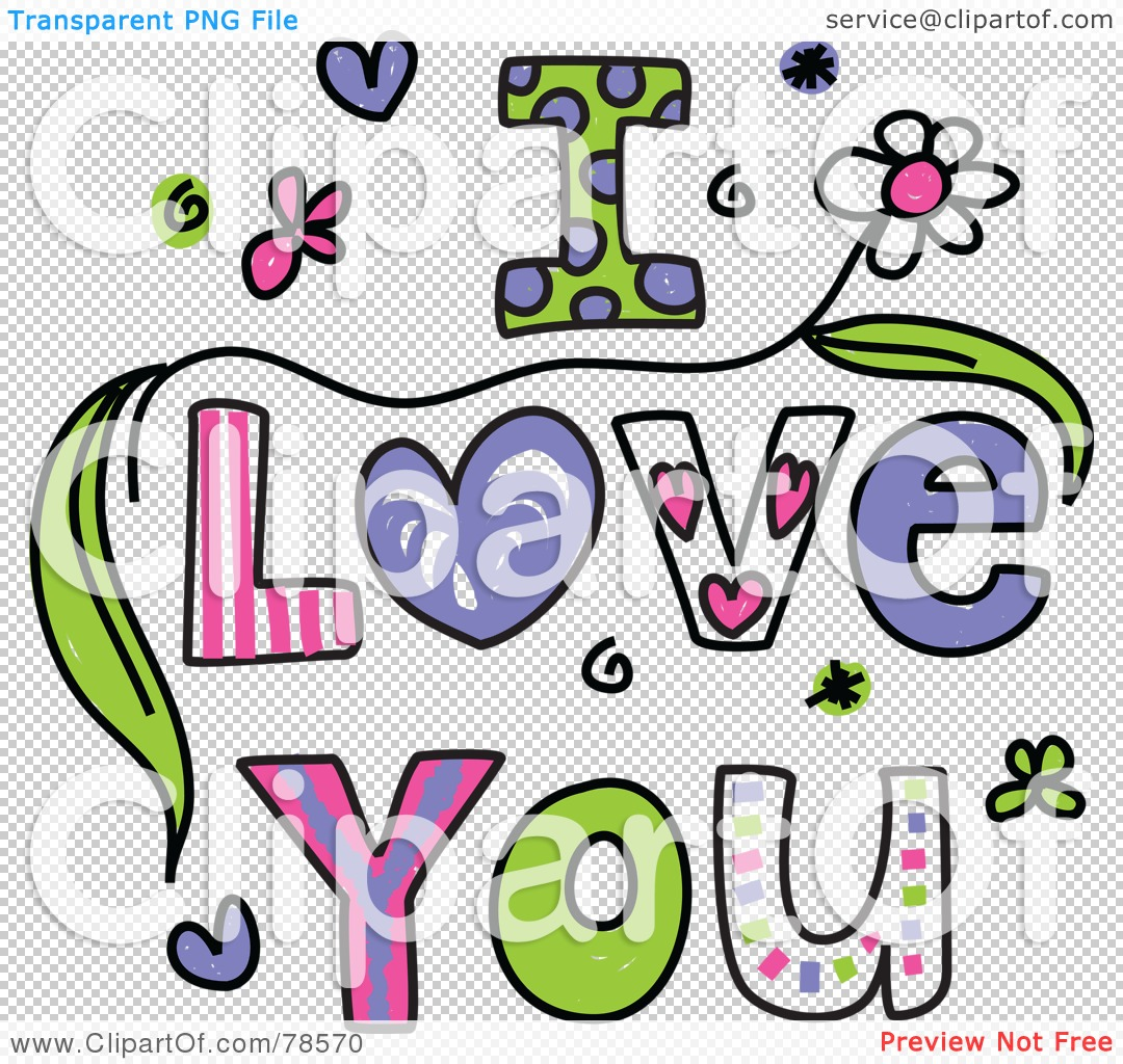 Colorful I Love You Wo...