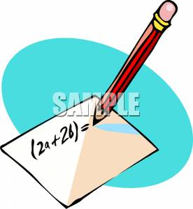 Paper And Pencil Clipart Math | Clipart Panda - Free ...