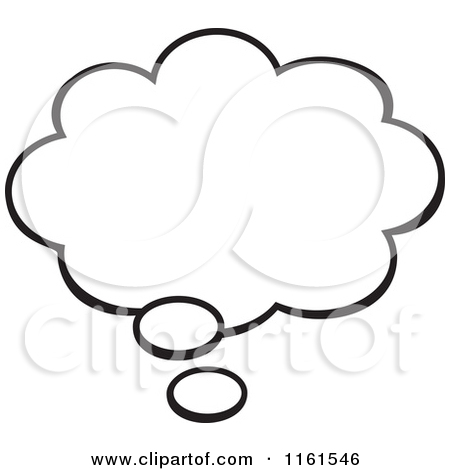Thinking Cloud Clipart Black And White Clipart Panda Free