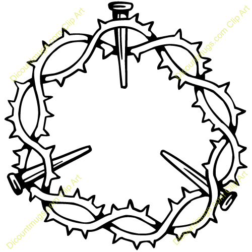 Crown Of Thorns Clipart Black And White