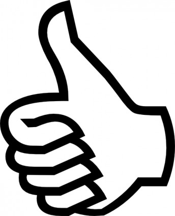 Thumbs Up Clipart Black And White Clipart Panda Free Clipart Images