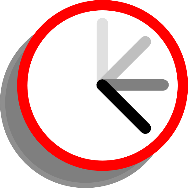 Ticking Clock Frame 2 Clip Art