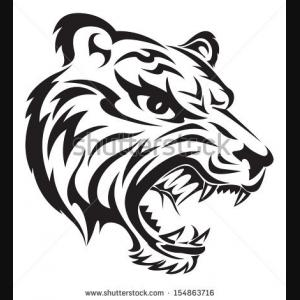 Angry tiger face tattoo design | Clipart Panda - Free ...
