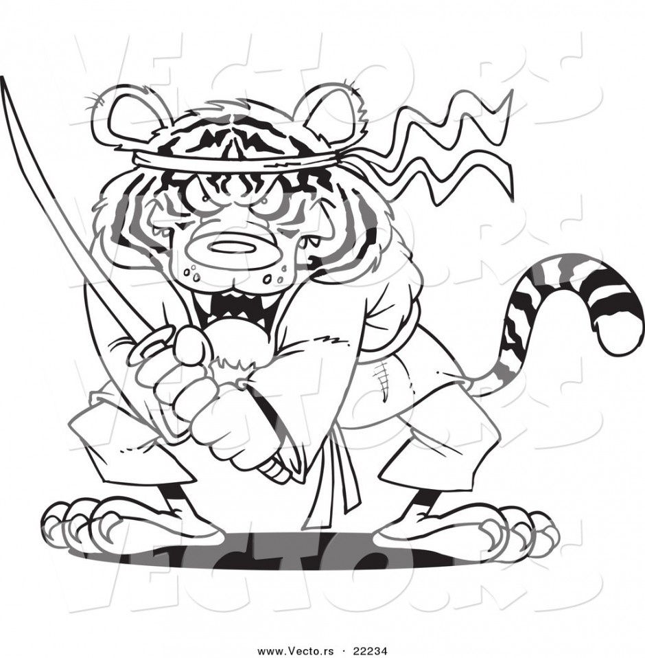 Scary Tiger Coloring Pages Coloring Pages