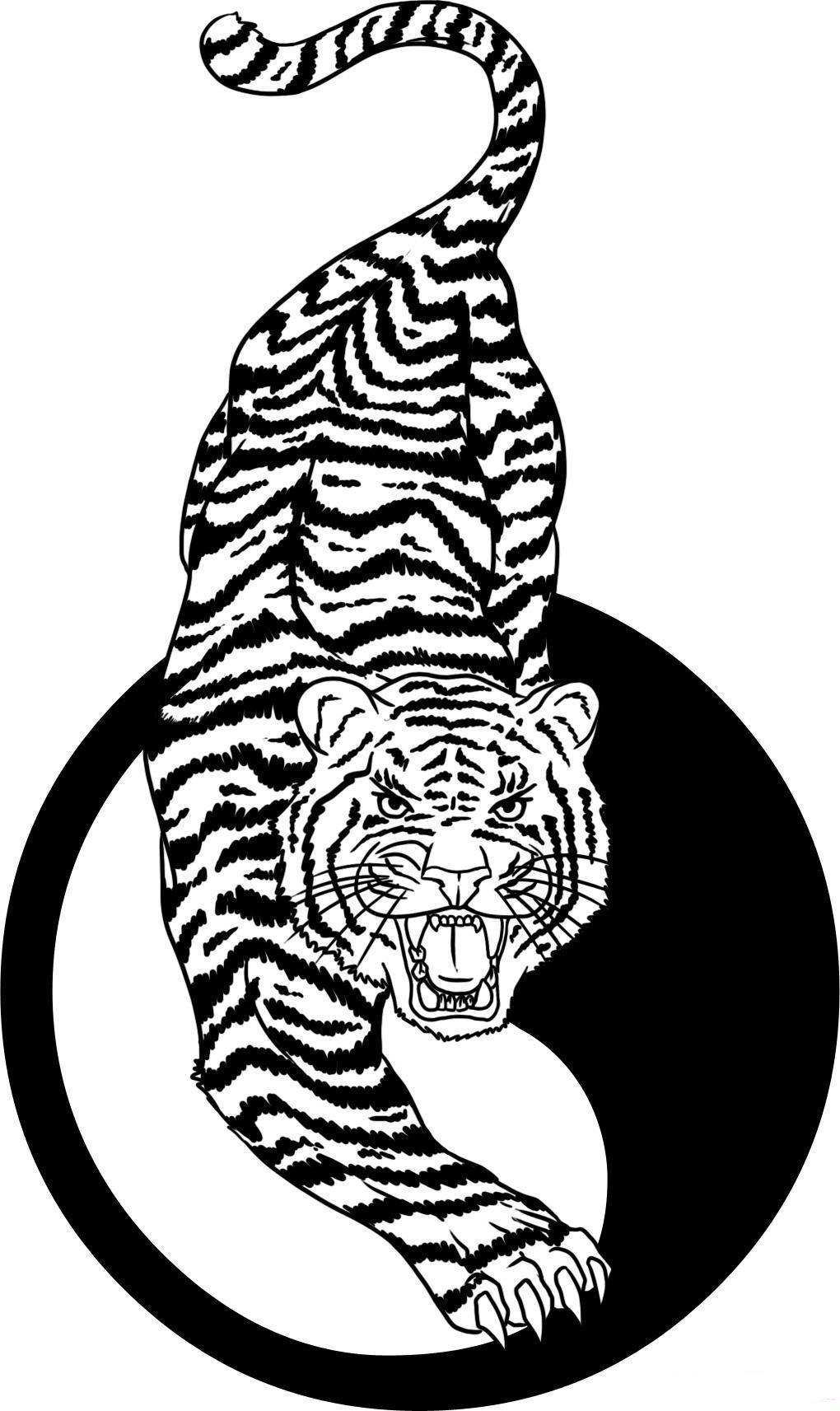 Tiger tattoo drawings