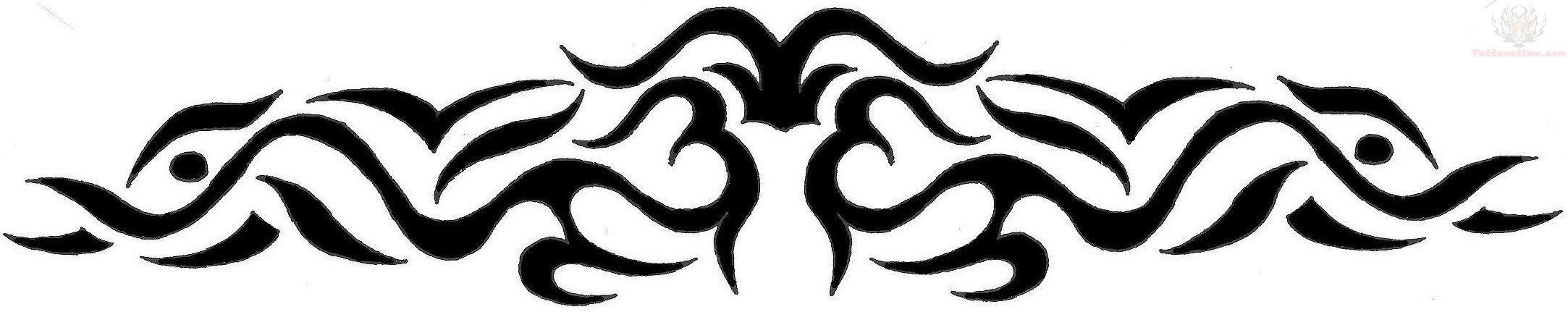 Tribal Flames Back Tattoo Designs