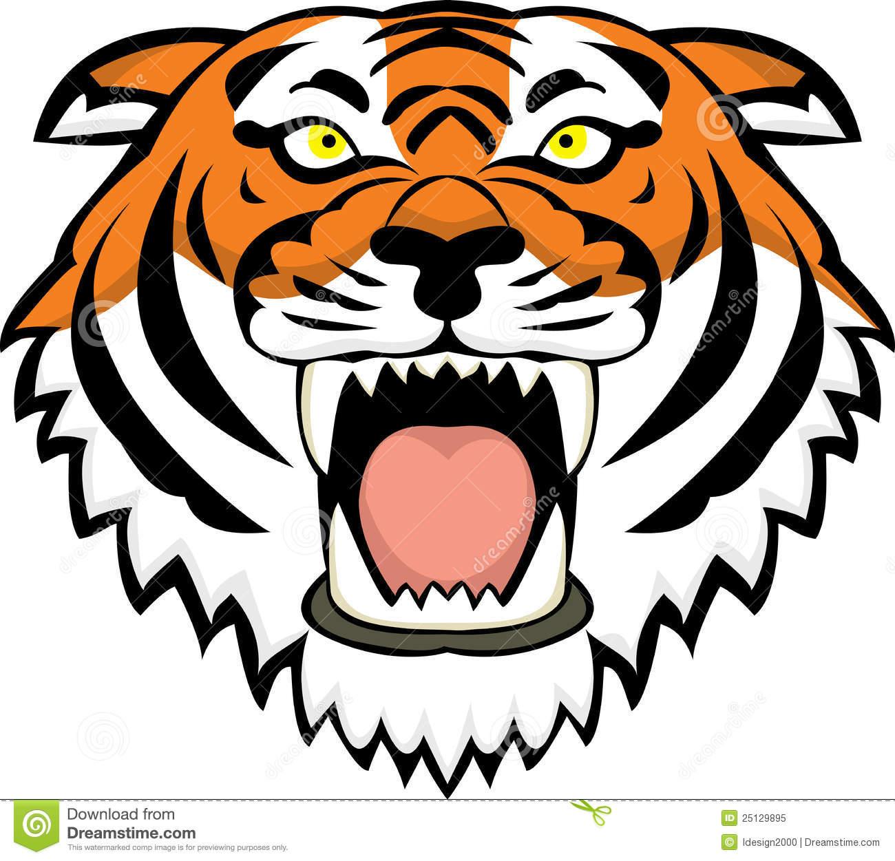 tiger head clip art clipart panda free clipart images rh clipartpanda com angry tiger head clipart tiger head logo clipart