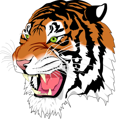 Tiger Face Clip Art tiger%20face%20clip%20art