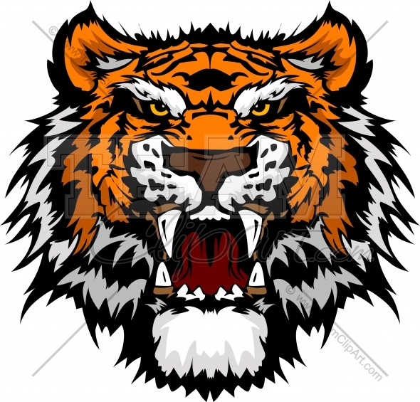 free tiger head clip art - photo #26