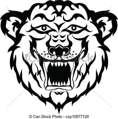 Black and white tiger tattoo