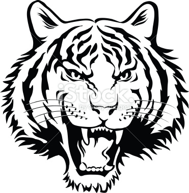 Tiger Head Clip Art Black And White | Clipart Panda - Free Clipart ...