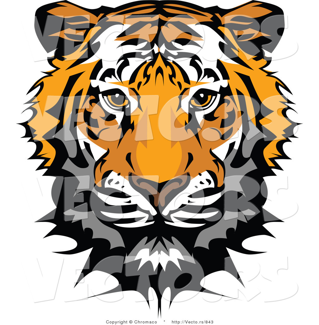 free tiger head clip art - photo #29